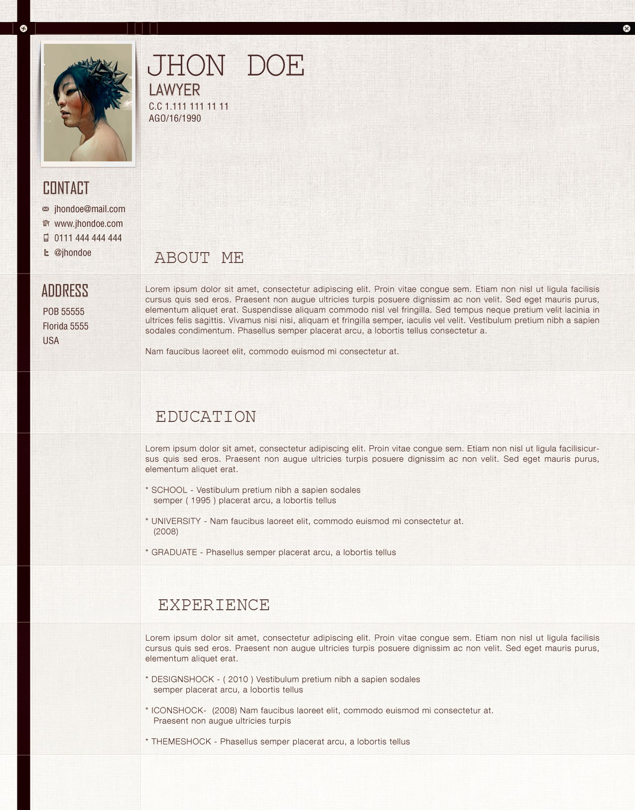 lawyer cv template